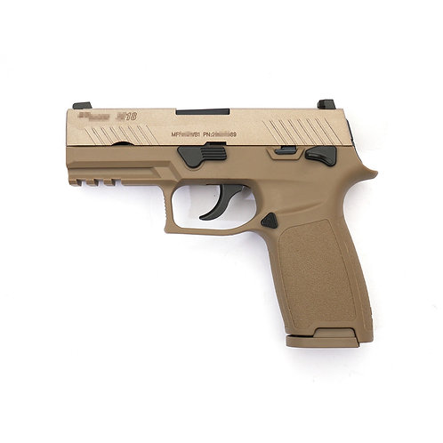 AEG F18 Gas Blowback Pistol (Tan)
