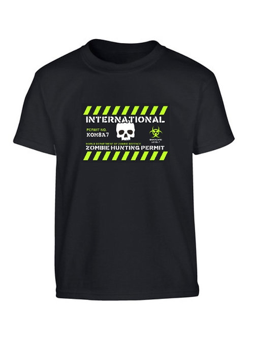 Kombat UK Kids Zombie Hunting Permit T-shirt