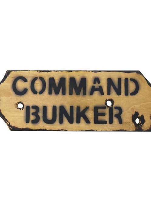 Kombat UK  Command Bunker Sign