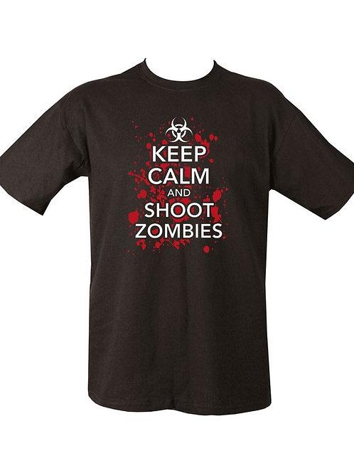 Kombat UK Keep Calm & Shoot Zombies T-shirt - Black