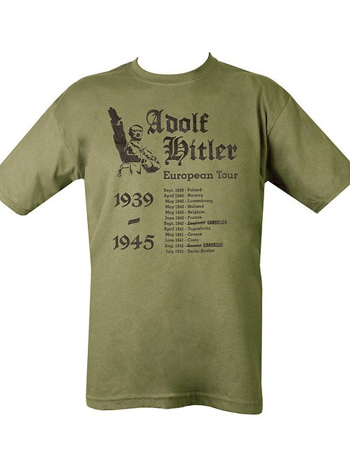 Kombat UK Hitler's European Tour T-shirt - Olive Green