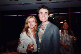 Oli Higginson with agent Georgie Davies (Conway van Gelder Grant)