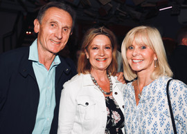 Tony Higginson, Liz Gunewardena, and Marilyn Higginson