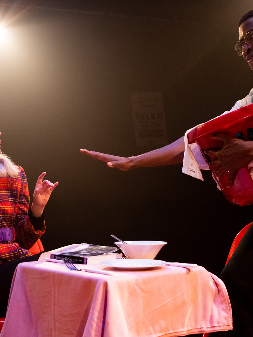 Meaghan Martin and Adrian Richards in The Actor's Nightmare. Photo by Ali Wright.