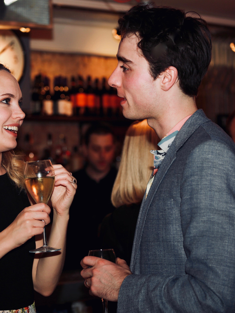 Meaghan Martin and Oli Higginson at press night for The Actor's Nightmare. Photo by Emy Davis.