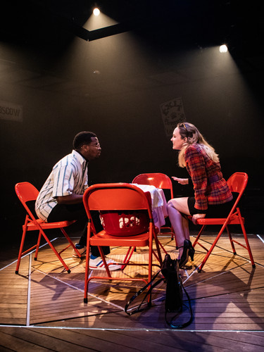 Adrian Richards and Meaghan Martin in The Actor's Nightmare. Photo by Ali Wright.