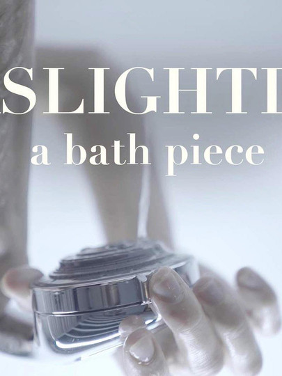 Promo image for Gaslighting: A Bath Piece at Yard Theatre. Photo and artwork by Uri Levy.