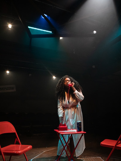 Layo-Christina Akinlude in The Actor's Nightmare. Photo by Ali Wright.