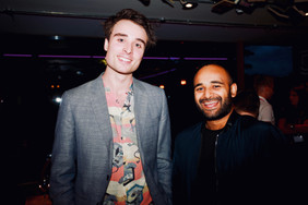 Oli Higginson with Writer, Director, and Musician Titas Holder