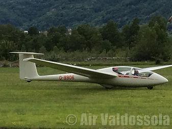 L'aliante-ph. Air Valdossola
