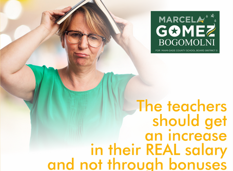 The teachers should  get an increase in their REAL salary