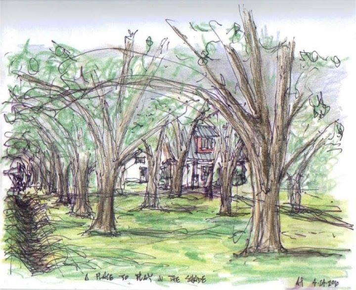 Drawing of Weyrich Farm