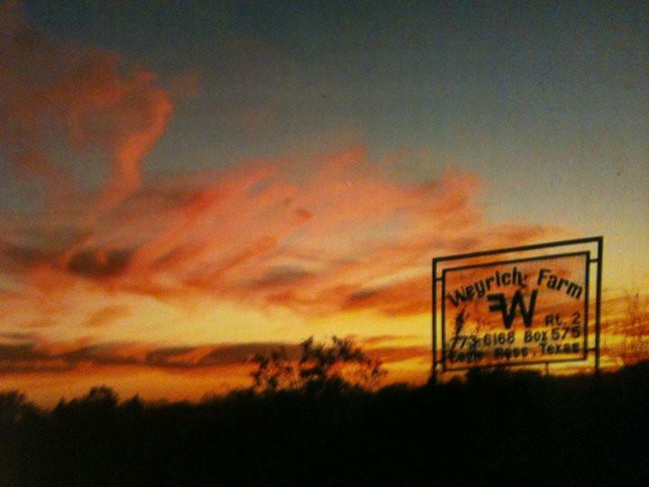 Sunset at Weyrich Farm
