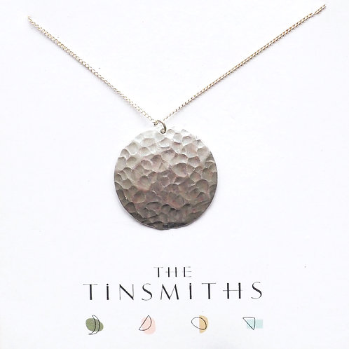 Kate Hamilton-Hunter Hammered Disc Necklace