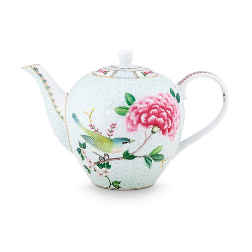Pip Studio White Blushing Birds Large Teapot 1.6ltr