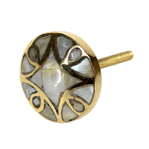 Gisela Graham Gold and Mother of Pearl Knob