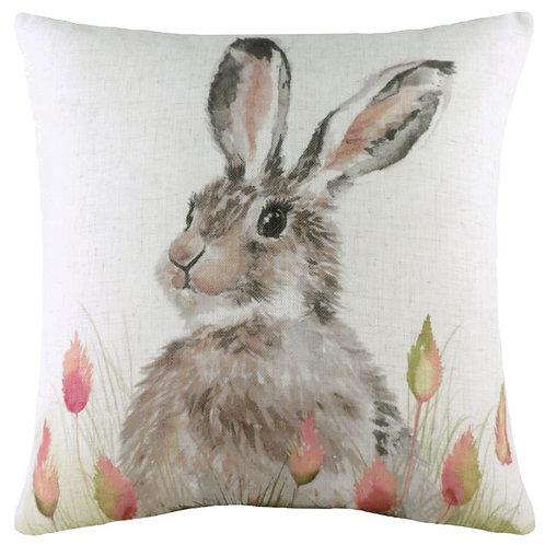 Hedgerow Hare Cushion