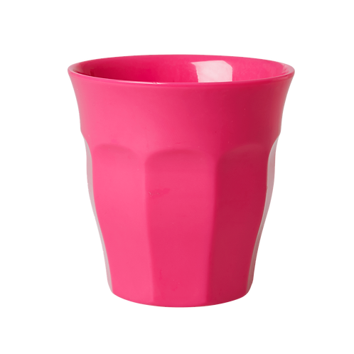 Rice Bright Pink Melamine Cup