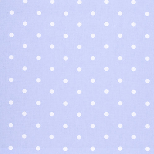 Powder Blue Dot Oilcloth  (price per half meter)