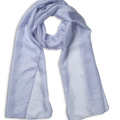 Quintessential Plain Heritage Blue Silk Scarf