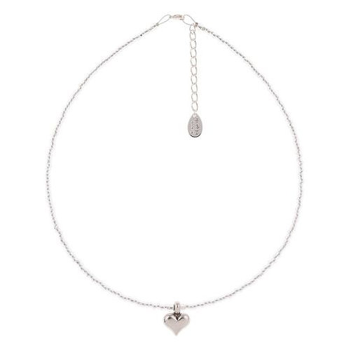 Carrie Elspeth Silver Heart Strings Necklace