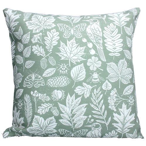 Gisela Graham Sage Green Garden Study Cushion