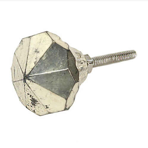 Gisela Graham Antique Silver Glass Knob