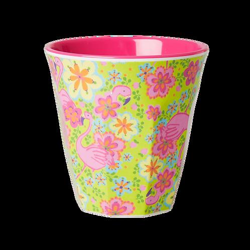 Rice Flamingo Melamine Cup