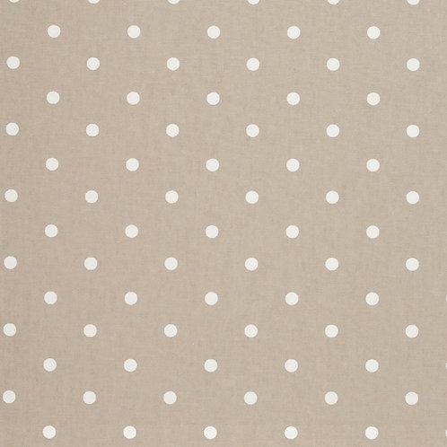 Taupe Dot Oilcloth (price per half meter)