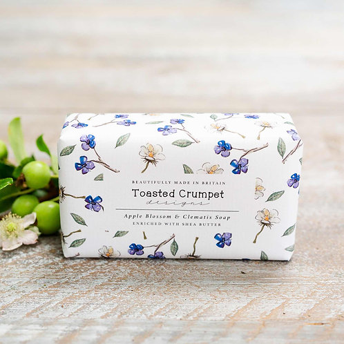 Toasted Crumpet Apple Blossom and Clematis Soap