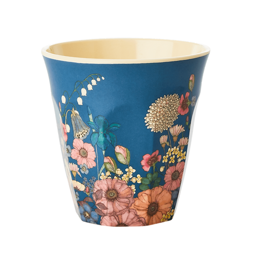 Rice Flower Collage Melamine Cup