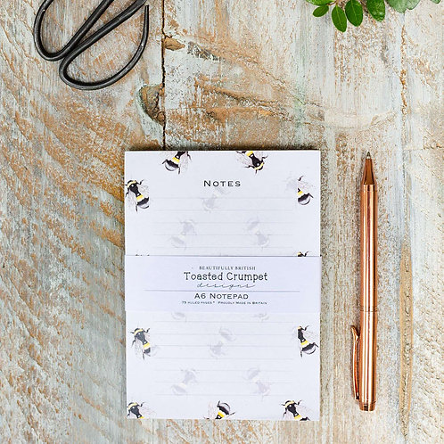 Toasted Crumpet Bee Pure A6 Jotter Notepad