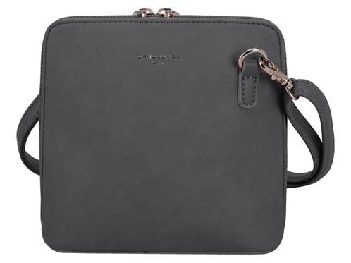David Jones Square Dark Grey Handbag