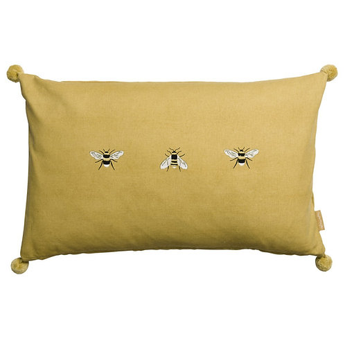 Sophie Allport Bees Embroidered Cushion