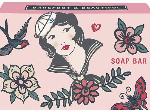 Barefoot & Beautiful Free Spirit 'Jenny Wren Wild Rose Soap Bar 100g