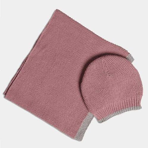 Quintessential Dusky Blush Moss Stitch Hat