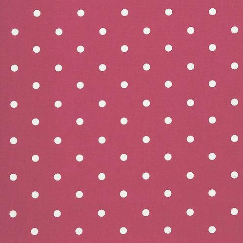 Red Dot Oilcloth  (price per half meter)