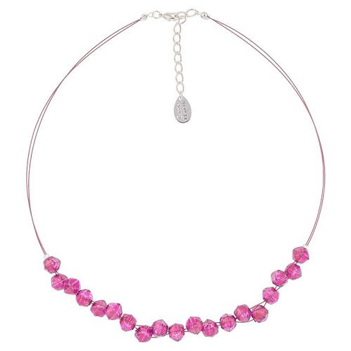 Carrie Elspeth Fuchsia Faceted Double Strand Necklace