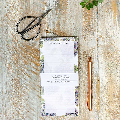 Toasted Crumpet Hydrangea Pure Magnetic Shopping List Pad
