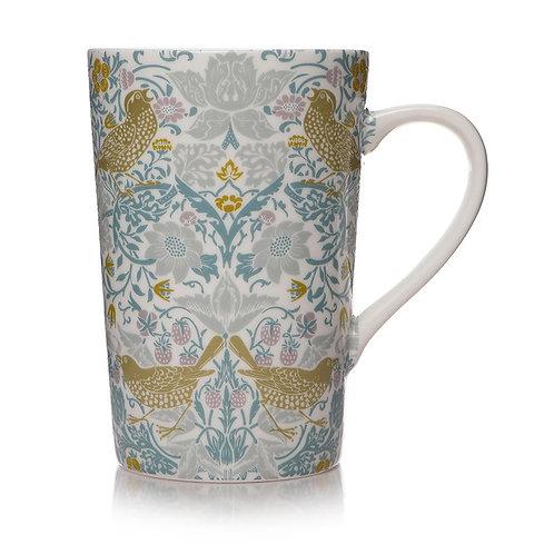 Shruti William Morris Strawberry Thief Latte Mug (400ml)