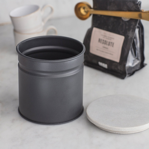 Garden Trading Marble and Steel Brompton Canister