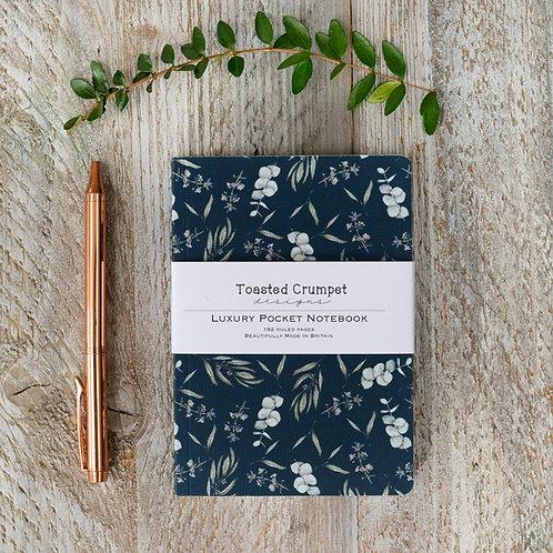 Toasted Crumpet Eucalyptus Noir A6 Lined Pocket Notebook