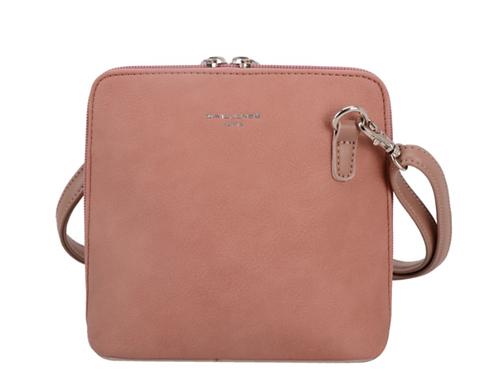 David Jones Square Pale Pink Handbag