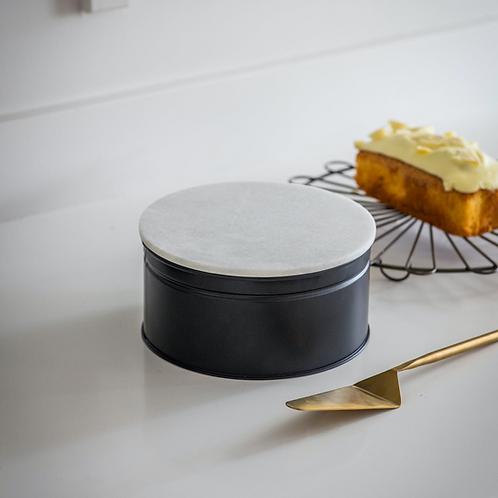 Garden Trading Marble and Steel Brompton Cake Tin