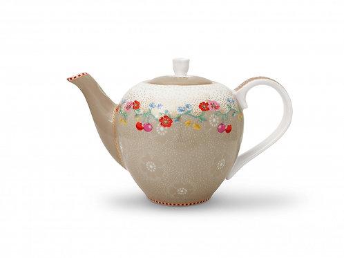 Pip Studio Small Khaki Cherry Tea Pot 750ml