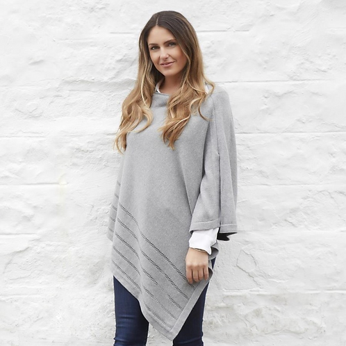 Earth Squared Grey Cotton Knitted Wrap