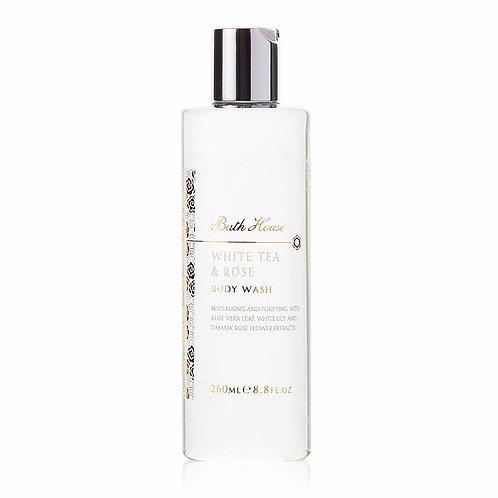 Bath House White Tea and Rose Body Wash 260ml