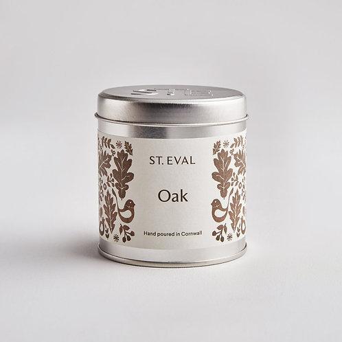 St. Eval Oak Tin Candle