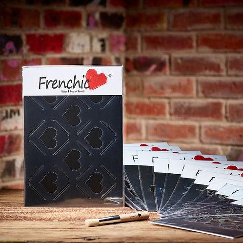 Frenchic Diamond Hearts Stencil