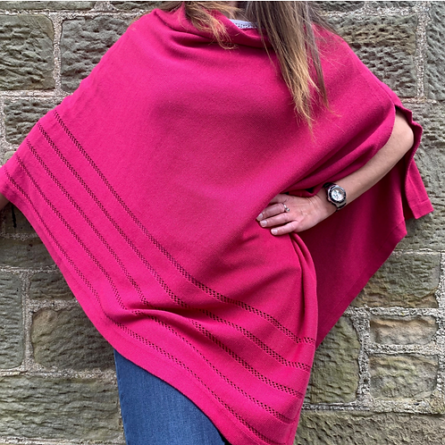 Earth Squared Pink Knitted Cotton Wrap